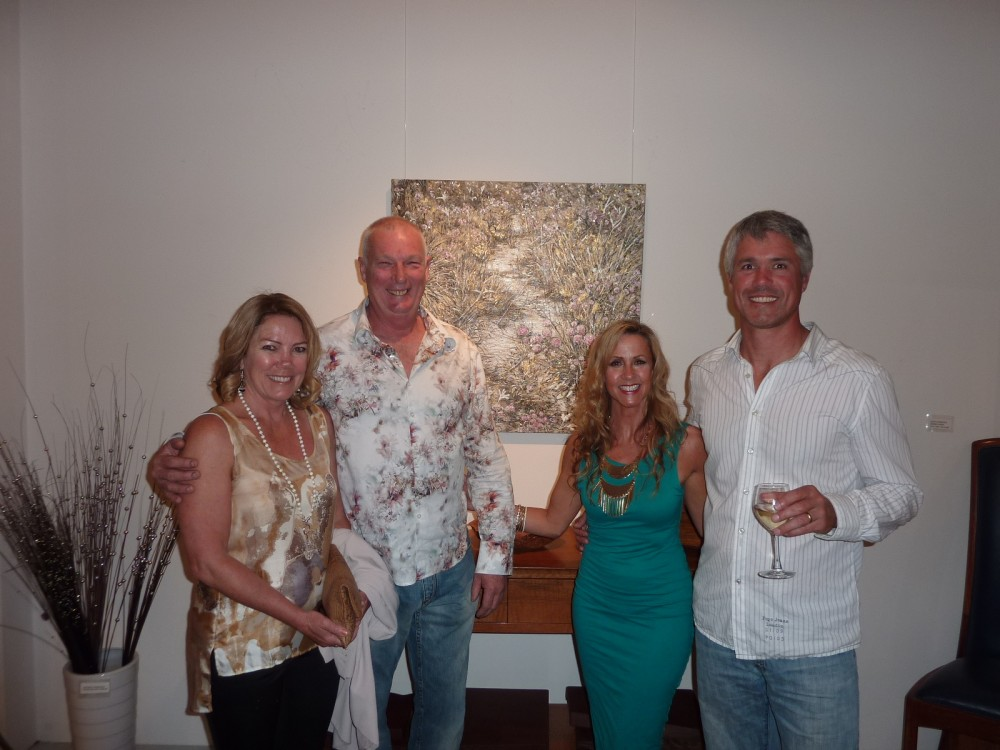 Enjoying the opening Celebrations with Gallery owner and Artisan John Streater and friends by Julia Carter